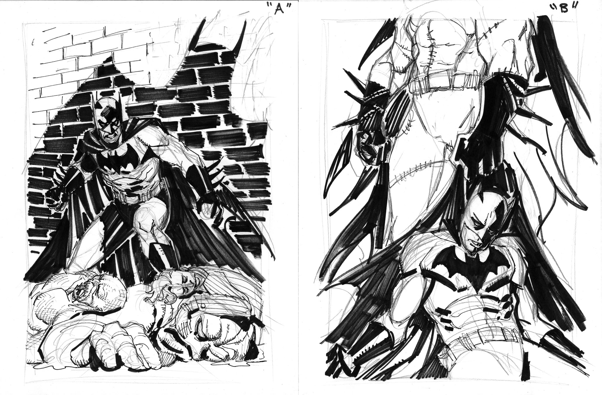 The Making Of A Batman Cover